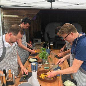 Workshop barbecue