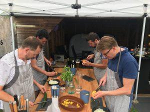 Workshop snijtechniek aan de gang